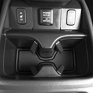 CupHolderHero for Honda CR-V CRV 2012-2014 Custom Fit Cup Holder, Door, and Center Console Liner Accessories 18-pc Set (Solid Black)