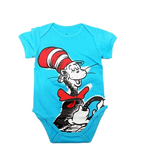 6608f89c8 Bumkins Unisex-Baby Newborn Dr. Seuss The Cat in The Hat Graphics Short  Sleeve
