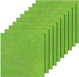 10Pcs Fairy Artificial Grass Miniature, Artificial Garden Grass Diorama Supplies, 6 x 6 Inches Miniature Artificial Craft ...