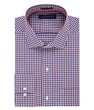 Tommy Hilfiger Non Iron Regular Fit Check Spread Collar Dress Shirt