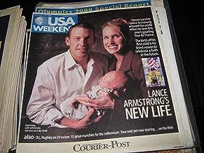 Lance Armstrong (L.A. New Life..Wife Kristin ...Son Luke David , Cancer Survivor , Camden Courier-Post Newspaper USA Weekend Magazine, December 10-12 , 1999)