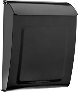 Architectural Mailboxes 2594P Pewter Aspen Locking Wall Mount Mailbox, Small,