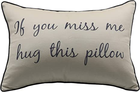 Long distance relationship Gift Pillow case Personalized Boyfriend Love Friendship Friend I miss you If you miss me hug this pillow LDR Miss