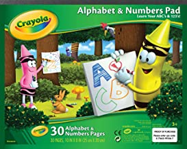 Crayola Beginning Alphabet & Numbers Pad 30 Pages 25 x 20cm