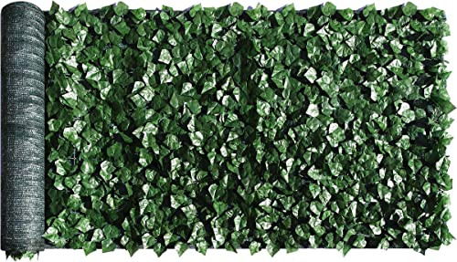 """2021 ColourTree (39"""" x 198"""") outlet online sale Leaves Fence Privacy Screen Artificial Hedges Faux Ivy Cover Panels Decorative Trellis - 3 outlet sale Years Warranty -Mesh Backing sale"""