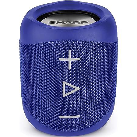 Sharp Gx Bt180 Bl Stereo Bluetooth Lautsprecher Kräftiger Bass Hochdynamischer Klangbereich 10 Stunden Spielzeit Staub Spritzwassergeschütz Mikrofon Für Telefonate Google Siri Blau Audio Hifi