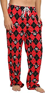 Undergirl Harley Quinn Argyle All Over Print Red Lounge Pants