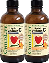 ChildLife Essentials Liquid Vitamin C Immune Support for Infants, Babys, Kids, Toddlers, Children, and Teens Natural Orang...