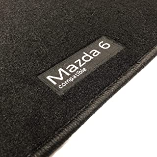 6-CLIP Classic Su Misura Nero Tappetini Per Auto MAZDA 6 2008-2013