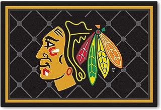 FANMATS NHL Chicago Blackhawks Nylon Face 5X8 Plush Rug