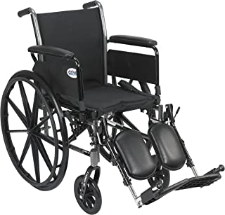 """Cruiser III Light Weight Wheelchair with Flip Back Removable Arms, Full Arms, Elevating Leg Rests, 16"""" Seat"""