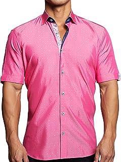 Mens Designer Dress Shirt SS - Stylish & Trendy - Galileo...
