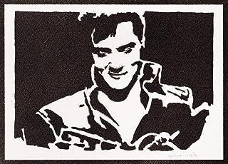 Poster Elvis Presley Handmade Graffiti Street Art - Artwork