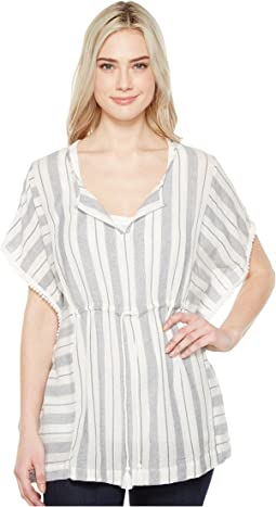 Sea Stripes Tie Pullover Tunic