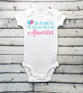 Baby Pregnancy Announcement - Soon to be grandparents - Un pajarito me dijo que van a ser Abuelitos - baby coming soon - due soon - guess what - coming soon - announcement - arriving 2020 - surprise