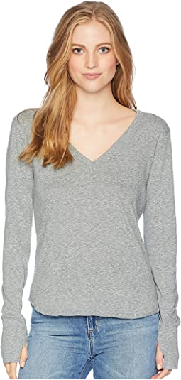 Essential Tri-Blend Long Sleeve V-Neck