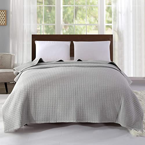 dfc2c84f33 Alicemall 100% Cotton Bedspread Grey Super Soft Warm Quilted Bedspread  Living Room Bed Sheet Sofa