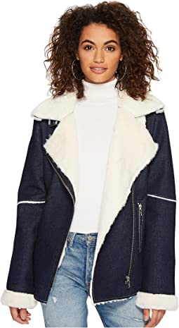 J.O.A. - Denim Shearling Jacket