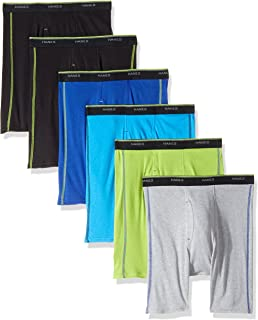 Hanes Men's 6-Pack Sport Boxer Briefs (5 + 1 Free Bonus Pack)