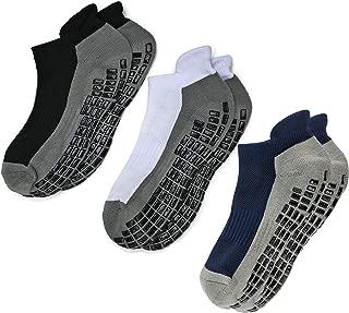 Super Grips Anti Slip Non Skid Yoga Hospital Socks for Adults Men Women