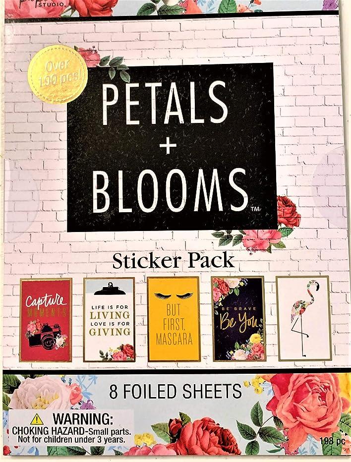 Petals & Blooms Foiled Sticker Pack-198 pcs. Planners, Scrapbooks, Cards, Calendars