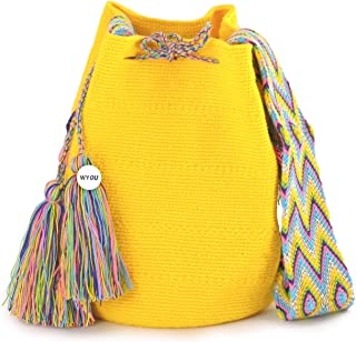 Wayuu Mochila Bags Crochet Woven Handmade Cotton Authentic Colombian Boho Bags Crossbody Colorful