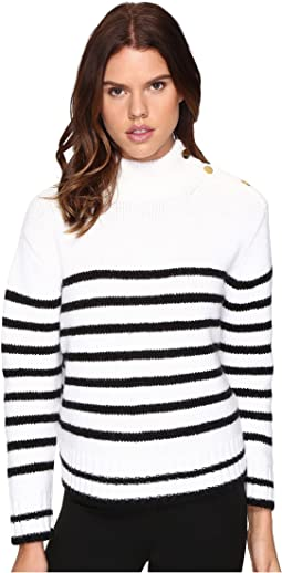 Stripe Alpaca Sweater