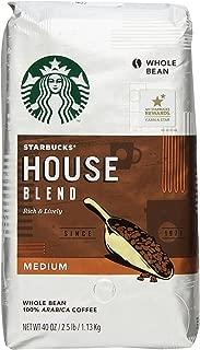 Starbucks House Blend Whole Bean Coffee, 40 Ounce