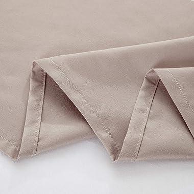 Twin Flat Sheet, Beige Flat Sheet, Brushed Microfiber Top Sheet, Ultra Soft Smooth Flat Bed Sheets with 1 Piece Flat Sheets O