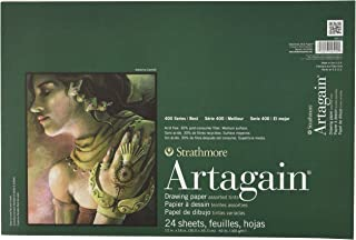 "Strathmore 400 Series Artagain Pad, Assorted Tints, 12""x18"" Glue Bound, 24 Sheets"