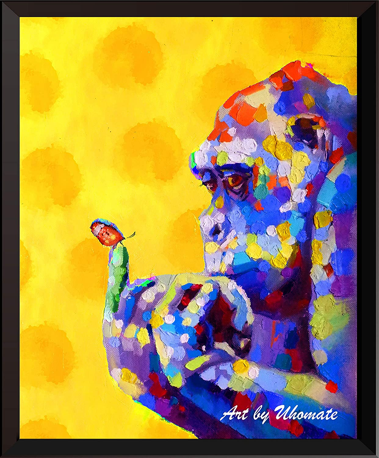 Long-awaited 25% OFF Uhomate Watercolor Gorilla and Print Chimpanz Butterfly Original