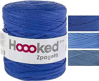 HOOOKED B.V. Yarn ZPAGETTI, Ocean Blue-Mid Blue Shades, One Size