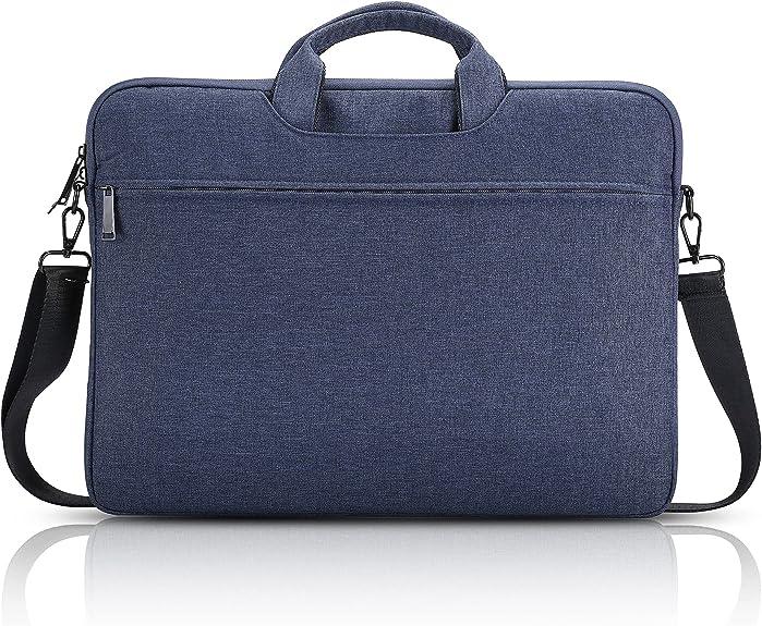 Laptop Shoulder Bag,Waterproof Slim Laptop Bag Sleeve15.6 inch with Shoulder Strap