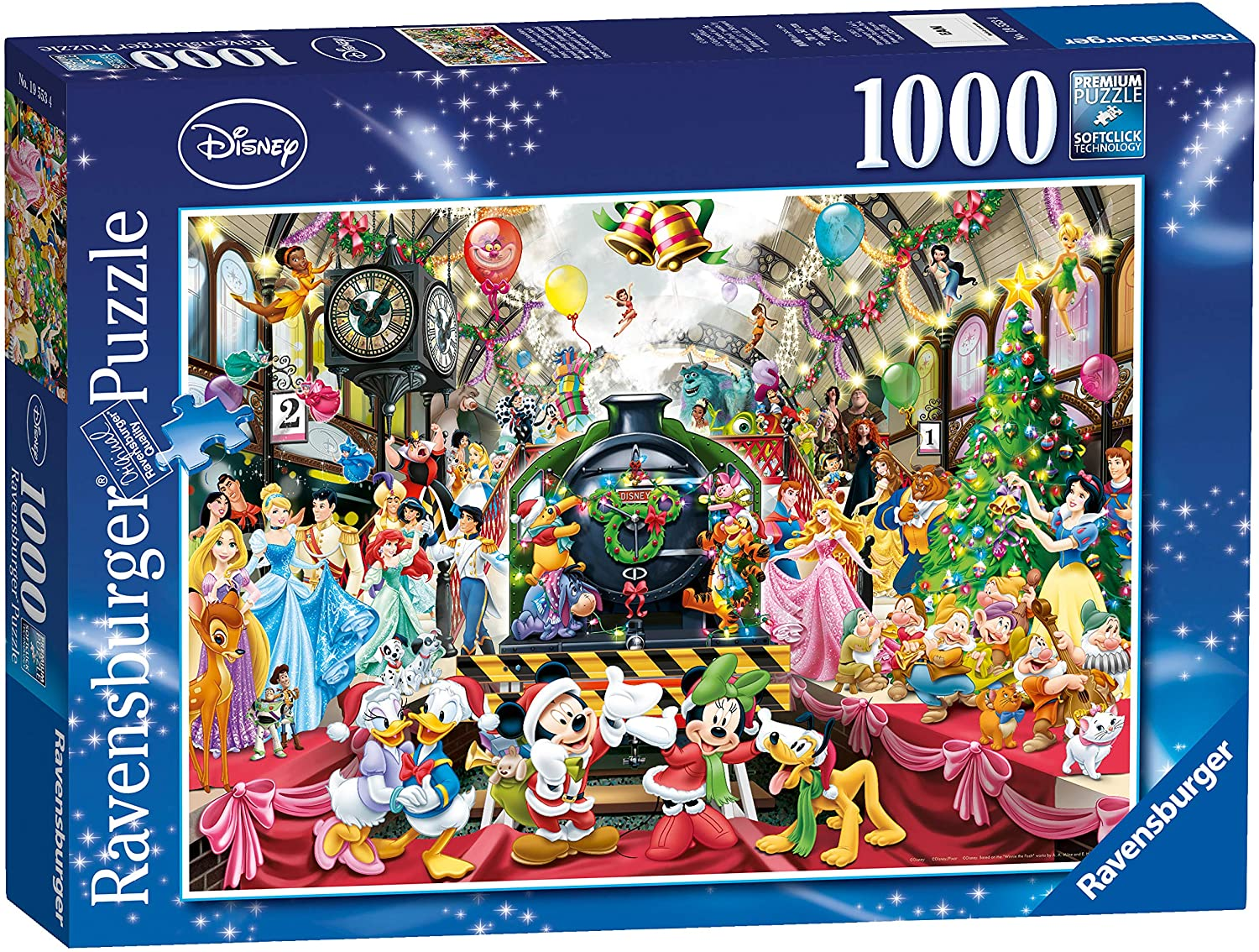 Ravensburger Disney Christmas 1000-Piece Large discharge sale Max 87% OFF Jigsaw Puzzle