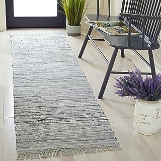 "Safavieh Rag Rug Collection RAR121A Handmade Boho Stripe Cotton Accent Rug, 2'3"" x 5', Grey"