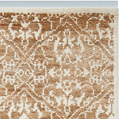 Safavieh Bohemian Collection BOH801A Handmade Brown and Beige Jute Area Rug (5' x 8')