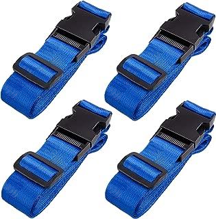 Length 40cm 2/x calidad Velcro ajustable correas hebilla de metal equipaje Correa ancho 25,38,50/mm negro negro Width 25mm