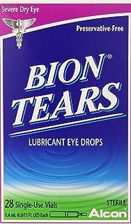 Bion Tears Lubricant Eye Drops-0.015 oz, 28 ct Single Use Vials, 2 pk