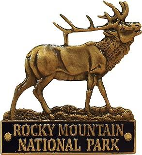 Rocky Mountain National Park - 3D Elk - Hiking Stick Medallion