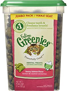 FELINE GREENIES Natural Dental Care Cat Treats 11 oz
