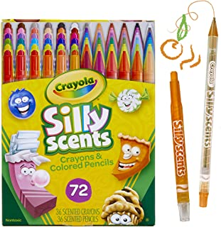 Crayola Silly Scents Twistables, Scented Crayons & Pencils, Stocking Stuffer, 72Count