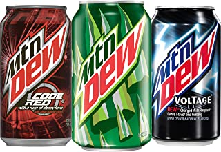 Mountain Dew, Variety Pack (Mountain Dew/Code Red/Voltage), 12 fl oz. cans (24 Pack)
