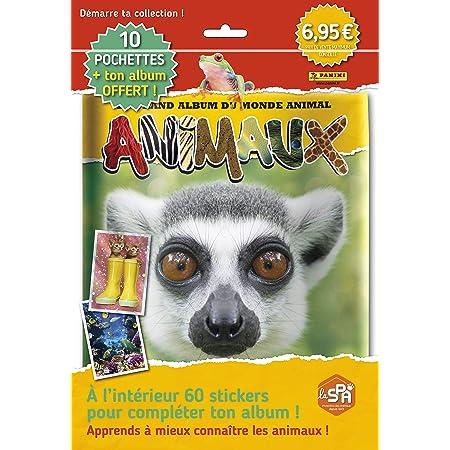 Panini France SA-Animaux 10 Pochettes + 1 Album Offert, 003980SPCFGD2