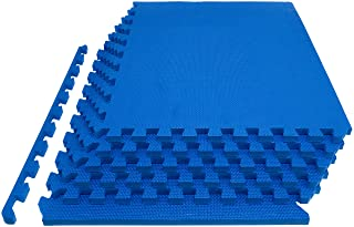 "Prosource Fit Extra Thick Puzzle Exercise Mat 3/4 or 1"", EVA Foam Interlocking Tiles for Protective, Cushioned Workout Flooring for Home and Gym Equipment"