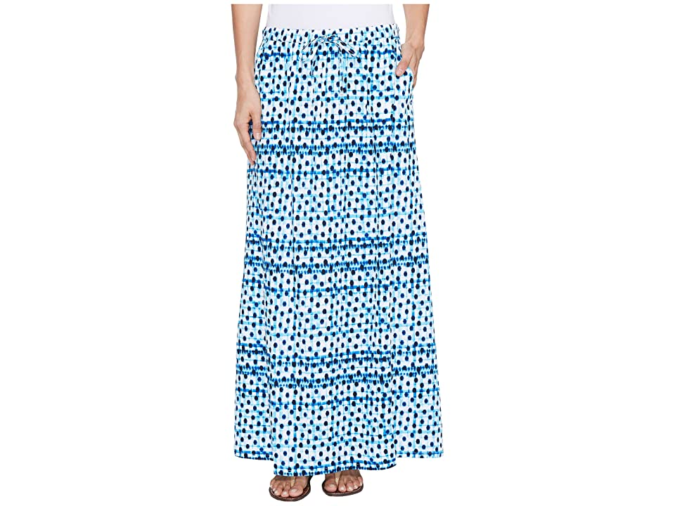 Tommy Bahama Dot Matrix Maxi Skirt (Old Royal) Women