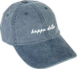 Kappa Delta (N) Sorority Baseball Hat Cap Cursive Name Font KD
