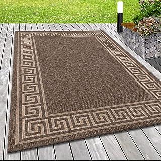 SIMPEX outdoor tapijt sisal look tapijt rand Romeinse bruin