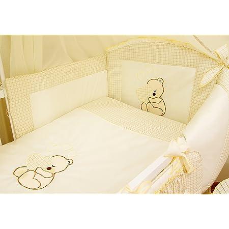 motif 13 3 pi/èces Chambre Parure de lit avec pare-chocs pour lit b/éb/é 120x60 cm