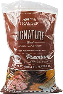 Traeger Grills PEL331 Signature Blend 100% All-Natural Hardwood Pellets - Grill, Smoke, Bake, Roast, Braise, and BBQ (20 lb. Bag)
