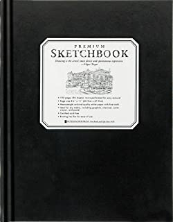 Premium Black Sketchbook - Large (8-1/2 inch x 11 inch, Micro-Perforated Pages)